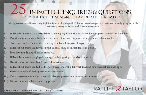 25 Interview Questions Card- Front
