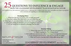 25 Questions to Influence and Engage Card - Front