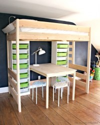 Diy Loft Bed With Desk And Storage Bunk Bed With Table ...