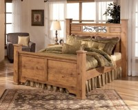 Full Size Headboard And Footboard Sets Rustic Solid Wood ...