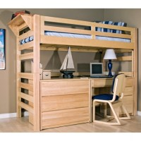 Simple Bunk Bed With Table Underneath Desk Wooden Ideas ...