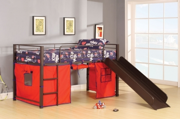Image result for ACME WILLIE LOFT BED W/SLIDE & TENT IN BROWN COFFEE 37270