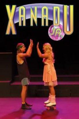 Xanadu Jr. leads Sonny (Kobey Hudec) and Kira (Ellie Constable) complete with roller skates and leg warmers