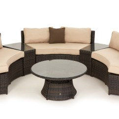 Maze Rattan Half Moon Sofa Set Grey Garden Covers Curved | ...