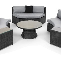 Maze Rattan Half Moon Sofa Set Grey Retro Tillary Review Curved Garden