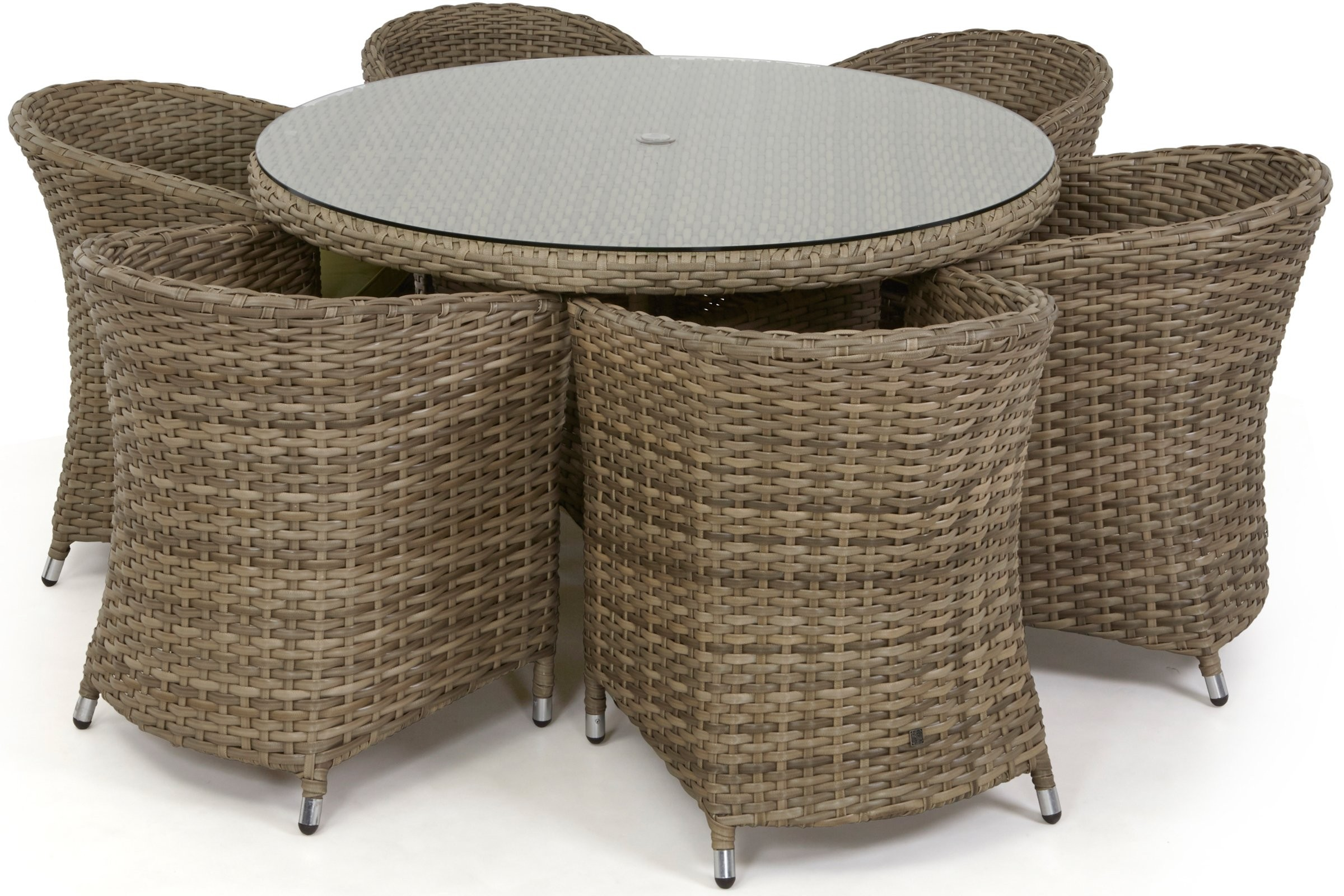maze rattan natural milan corner sofa set green cushions lowest price 6 seat dining with rounded