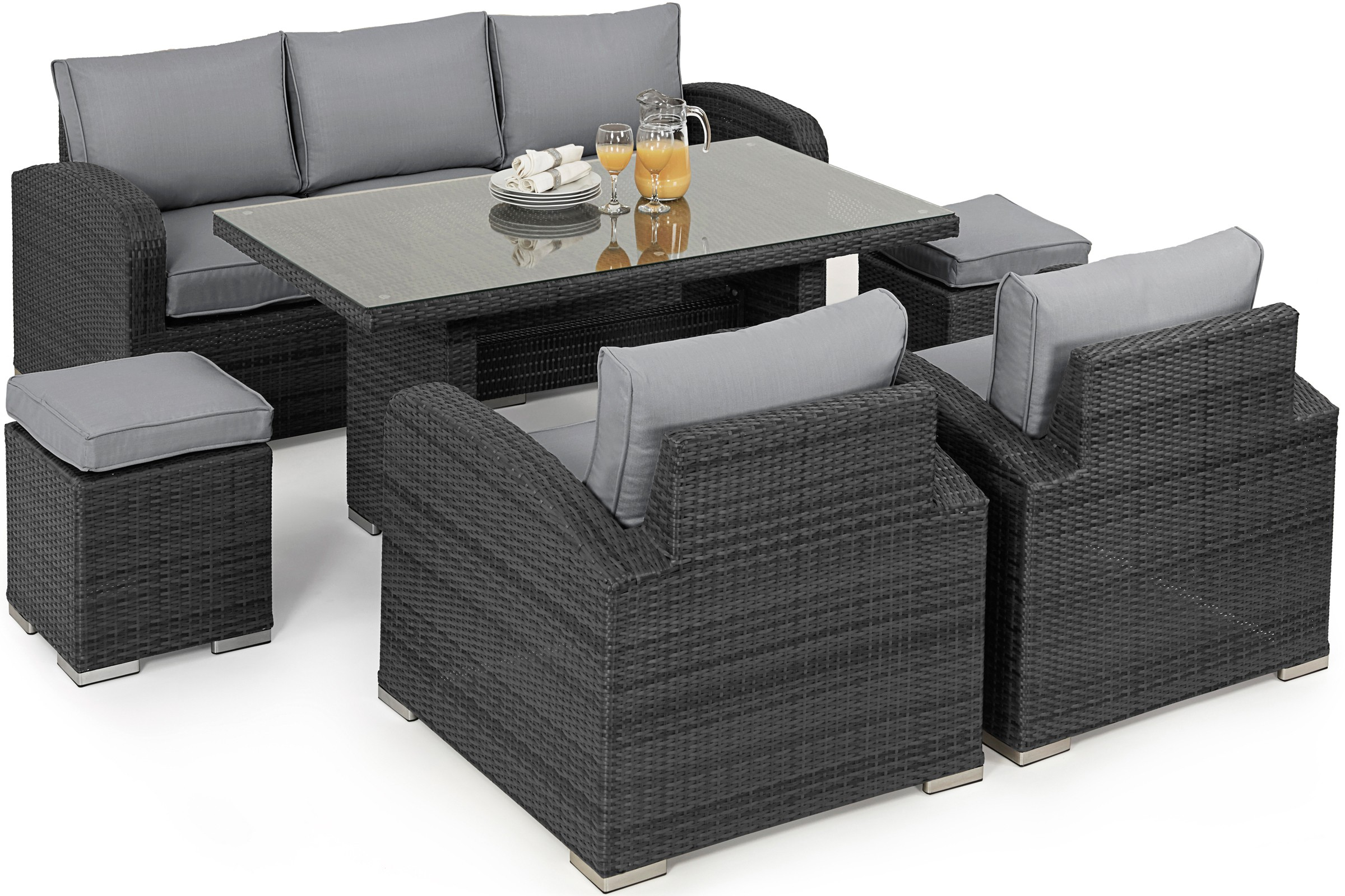 outdoor rattan armchair uk unfinished wooden chairs maze la casual sofa dining set | furniture fairy