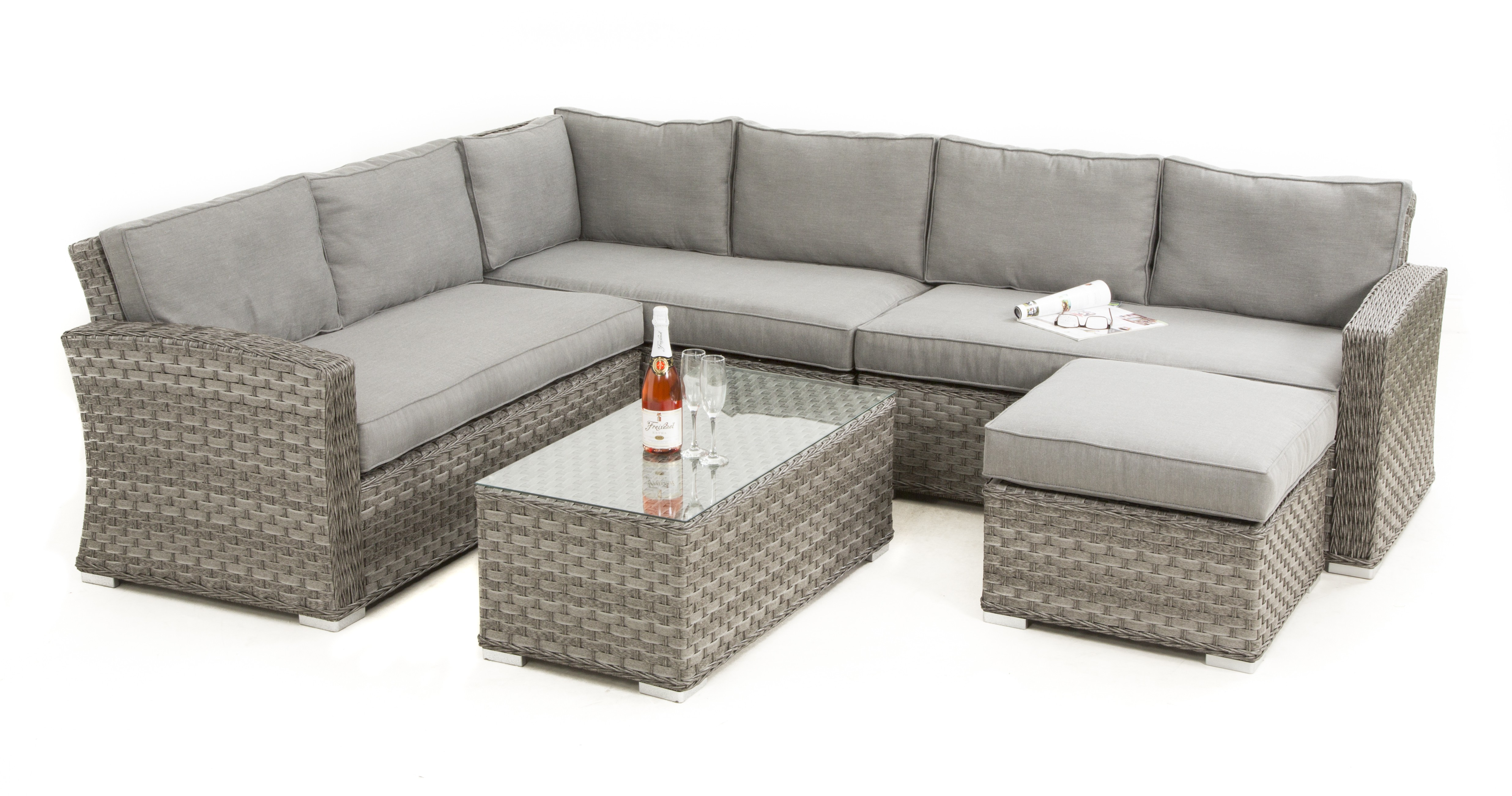 large square corner sofa suede fabric maze rattan victoria group patio furniture set