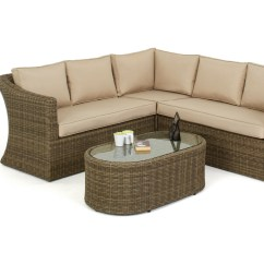 Small Wicker Sofa How Do You Fix A Rip In Leather Rattan Winchester Deluxe Corner Set