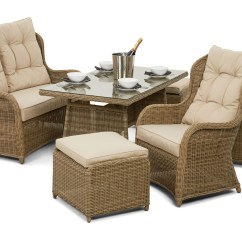 Grey Weave Garden Chairs Summer High Chair Cover Maze Rattan Winchester Back Sofa Dining Set | Furniture