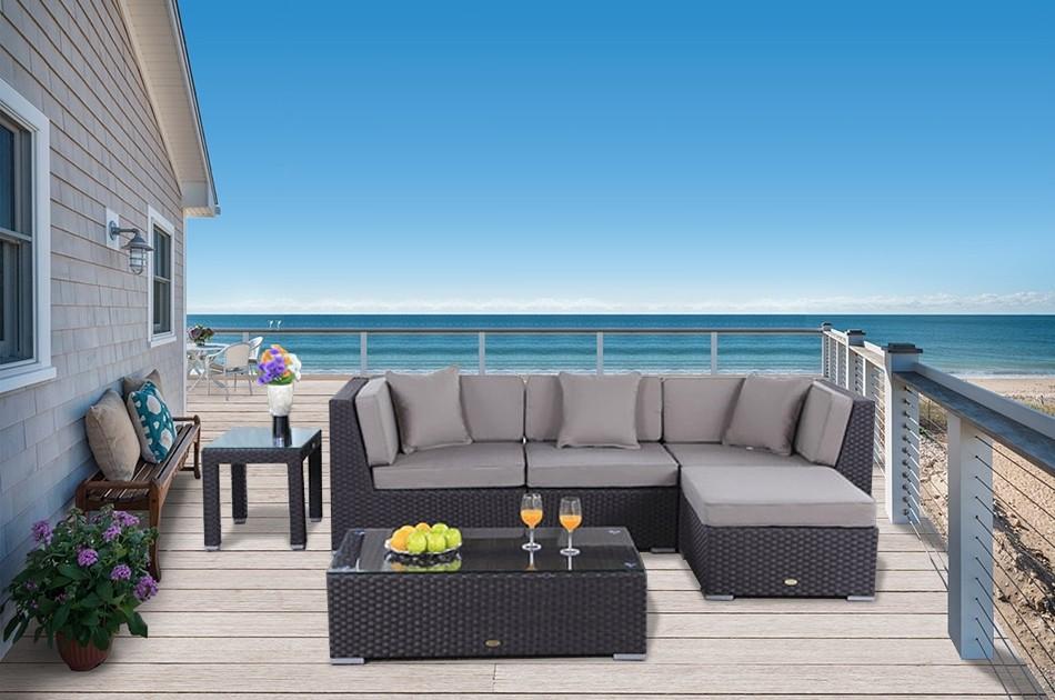 Rattanmbel  Murano  Lounge  Rattan Gartenmbel  schwarz