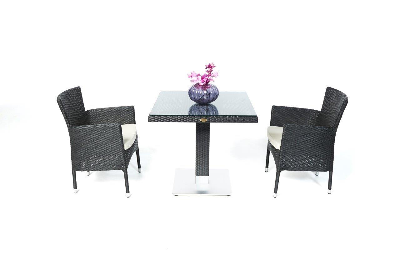 Kleiner Balkontisch  Sthle stapelbar  Rattan Gartenmbel Tischset  Esstisch fr den kleinen