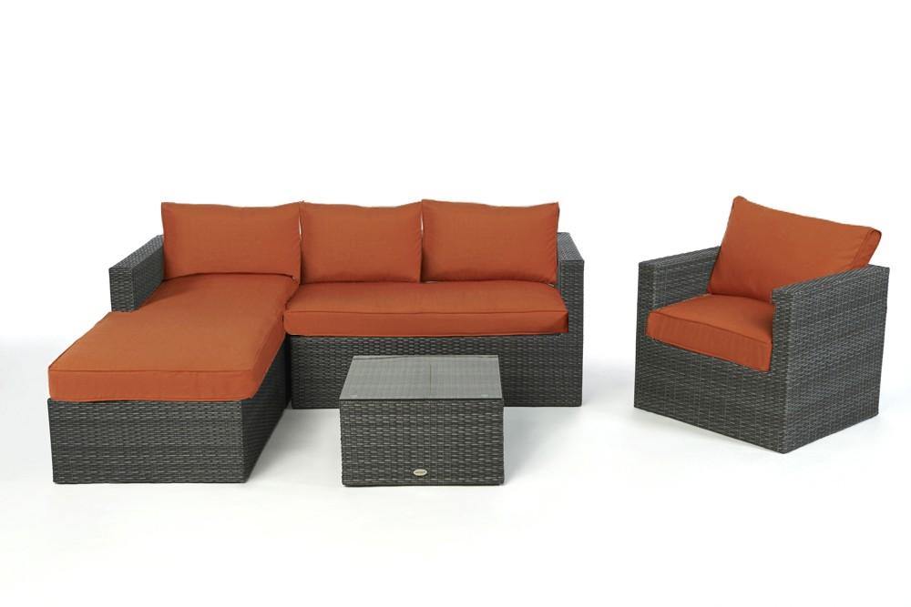 Wohnzimmer  Sofas  Rattansofas  Moderne Sofas  Wicker Sofa  Jurassic mix grau rechts  202