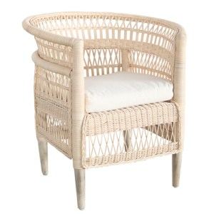 malawi style wicker chair natural