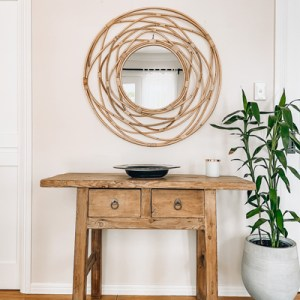 nido large rattan mirror