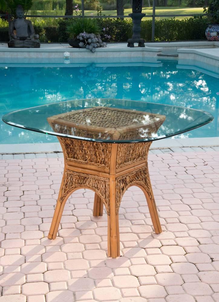 Panama Square Round Table Base Antique Honey Finish Alexander Amp Sheridan Casual Furniture