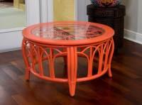 Cuba Accent Tables Aqua -Set of 2 with Glass - Alexander ...