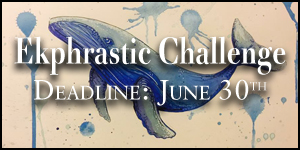 Ekphrastic Challenge, deadline at the end of the month, image of a blue whale