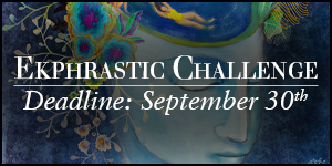 Ekphrastic Challenge, deadline at the end of the month, painting a head with swimming pool in brain and people swimming