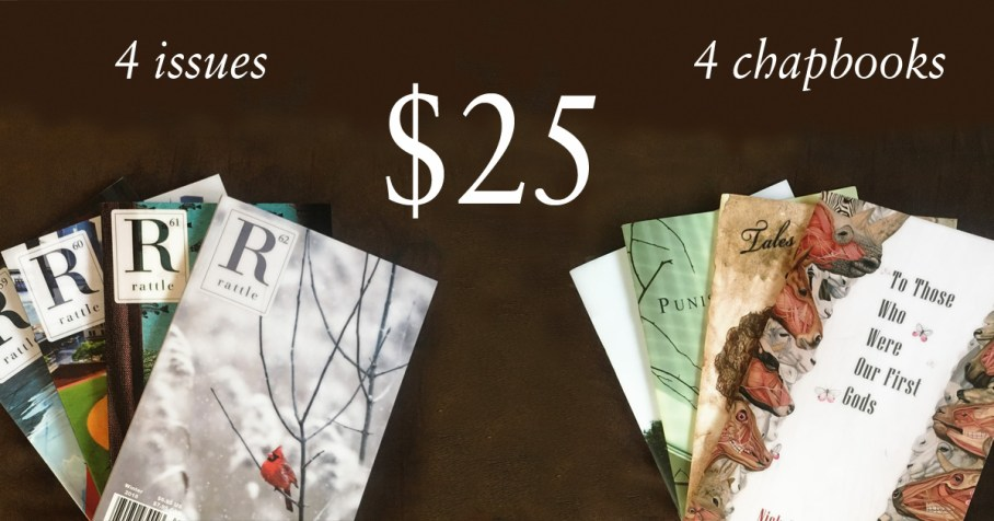 advertisement, four issues and four chapbooks for $25