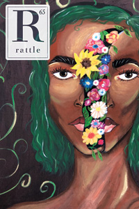 cover of issue 65, woman with flowers blooming from within