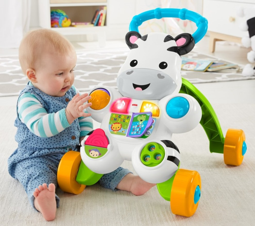 fisher price learn with me zebra walker instructions