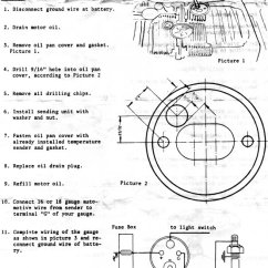 Temperature Gauge Wiring Diagram Xrc8 Vdo Gauges Oil Sender Plate Mod