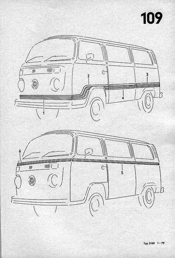 Ersatzteilliste Microfich T2 1968-1979