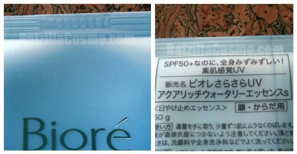 Review Biore UV Aqua Rich Watery Essence (2014 formula) code
