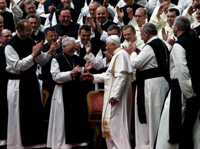Pope Benedict XVI visits Cistercians