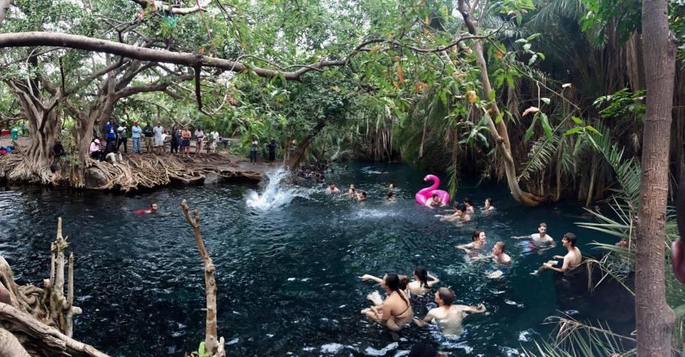Swimming at Kikuletwa with Rundugai Cultural Tourism