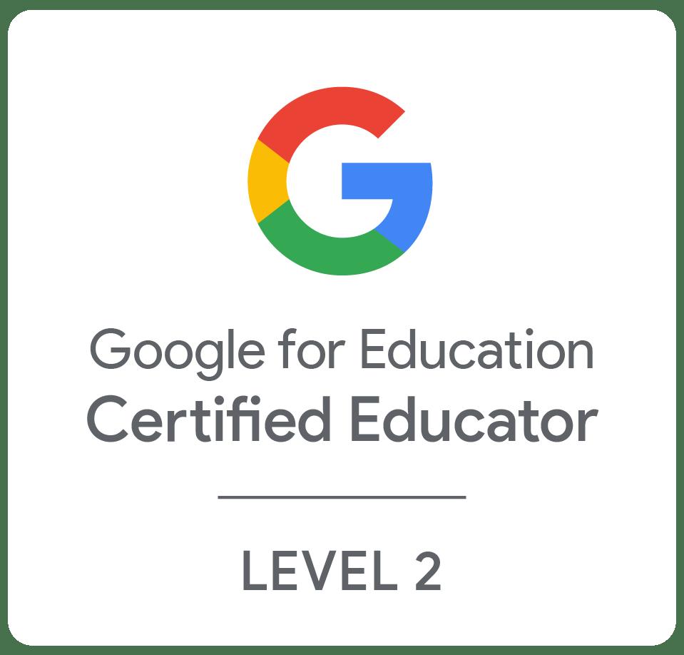 Google Certified Educator – Level 2
