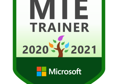 Microsoft MIE Trainer 2020-2021