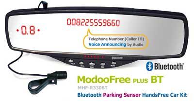 Espejo retrovisor con Manos Libres Bluetooth y sensor de aparcamiento.
