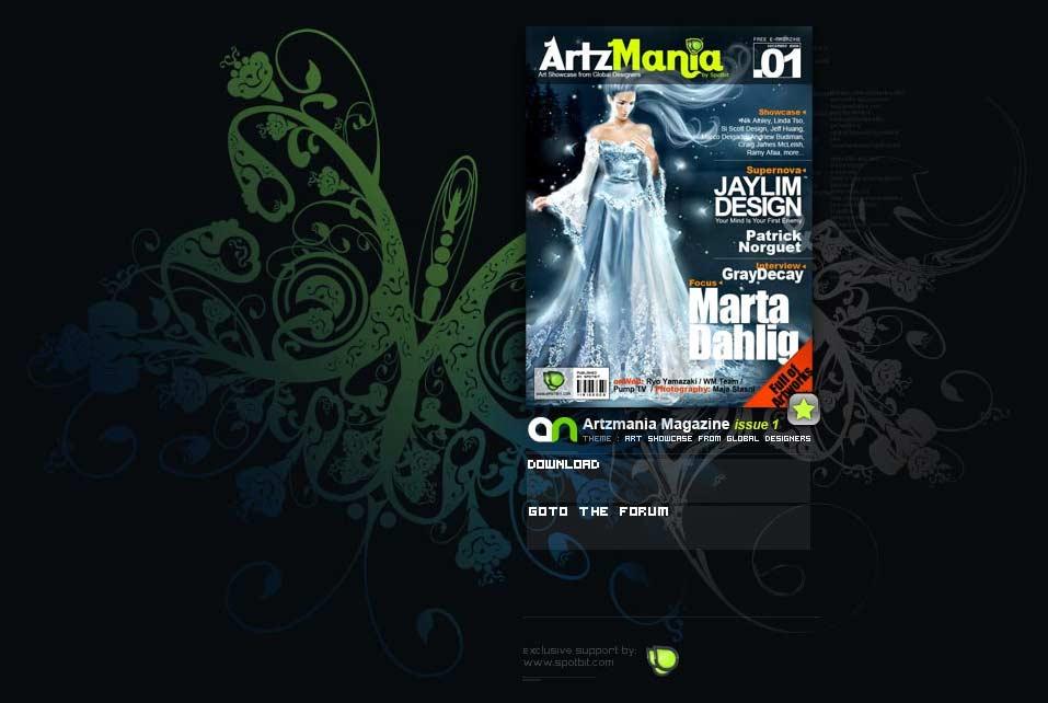 Artzmania, un e-magazine gratuito de diseño
