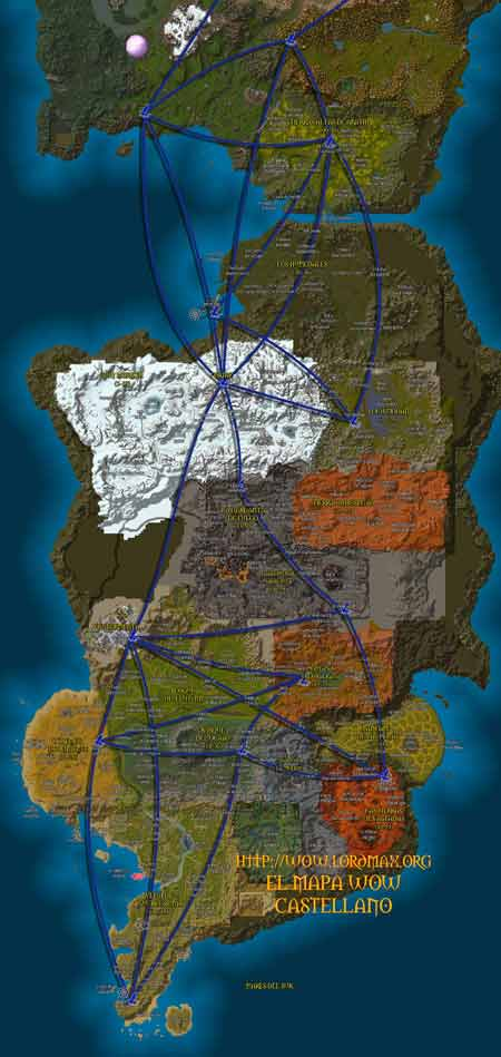El Mapa de World of Warcraft en Castellano