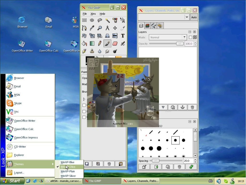 Linux con apariencia de Windows XP