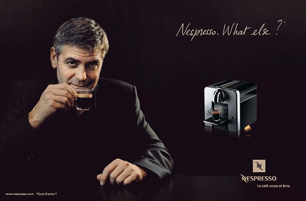 Anuncio de Nespresso que demuestra la importancia de la fotografía en un anuncio publicitario