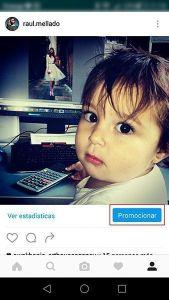 """Situación del botón """"promocionar"""" en el nuevo perfil de empresa de Instagram"""