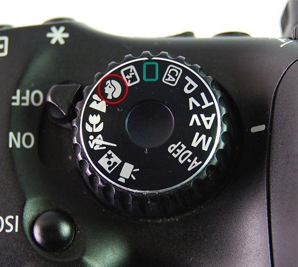 Situación típica del modo retrato en una cámara de fotos