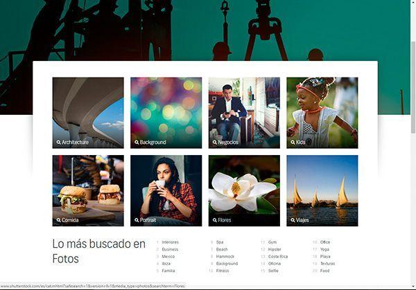 Imágenes archivadas por temas en páginas de stock donde encontrarás fotos profesionales y baratas paratu web y tu blog
