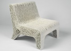 , Chair by Lilian van Daal replaces upholstery with 3D-printed structure