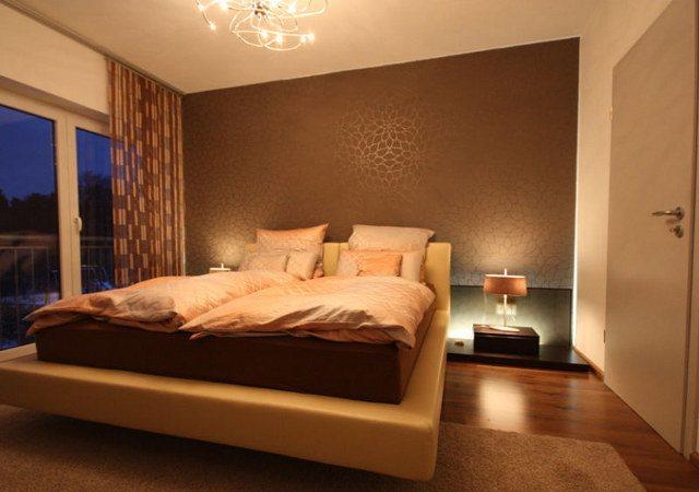 Schlafzimmergestaltung mit Lederbett  RAUMAX