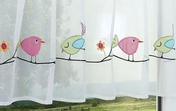Rosa Gardinen und Vorhnge  als kreative Fensterdekoration