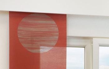 Rote Gardinen und Vorhnge in rot fr kreative Fensterdeko