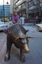 "Olga auf ""The Bull"""