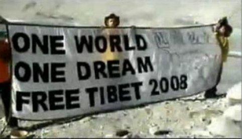 Demonstratie voor Tibet