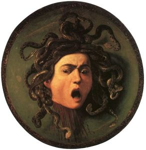 Medusa_by_Caravaggio-Liliana-Ravalli-pittrice-milano