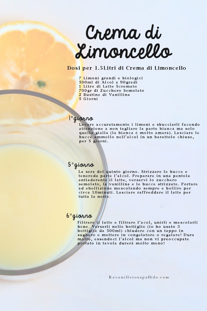 come fare la crema di limoncello