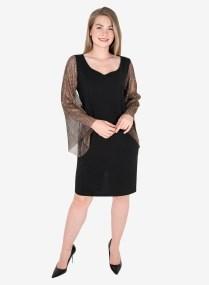 Μαύρο φόρεμα με εντυπωσιακά μανίκια